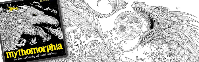 Dragons Unicorns Griffins And Other Mythical Creatures Morph Explode Into Astounding Detail Throughout This Coloring Book Which Beautifully